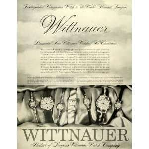 1957 Ad Wittnauer Watch Co Christmas Gift Jewelry Diamond