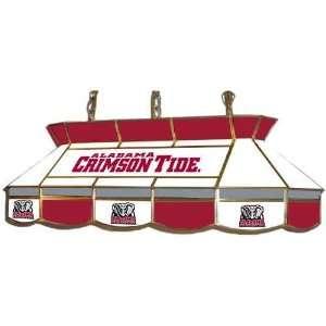 Alabama Crimson Tide Teardrop Style Stained Glass Billiard