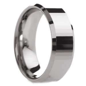 mm Mens Tungsten Carbide Rings Wedding Bands Polished Bevels with Thin