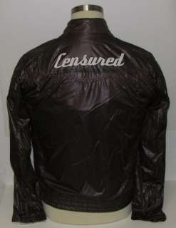 NEW CENSURED BROWN HIGH QUALITY STYLISH MOTORCYCLE/BIKE JACKET MENS