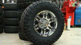 Moto Metal 951 Chrome Nitto Trail Grappler MT 285/65 18
