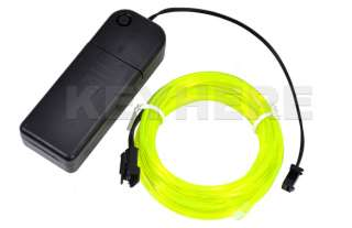 Flexible Neon Light Glow EL Wire Rope Tube Car Party 3M Fluorescent