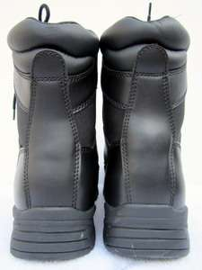 New SWAT BLACK LEATHER Steel Toe BOOTS BRAHMA Mens 10 1/2 10.5 W Work