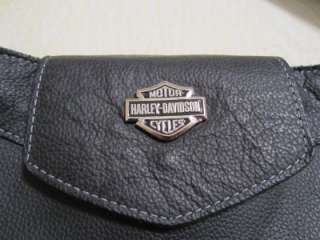 Harley Davidson Leather Messenger tote shoulder bag