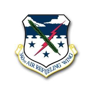 US Air Force 340th Air Refueling Wing Decal Sticker 3.8 6