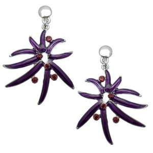 Acosta Jewellery   Purple Enamel & Crystal Starburst