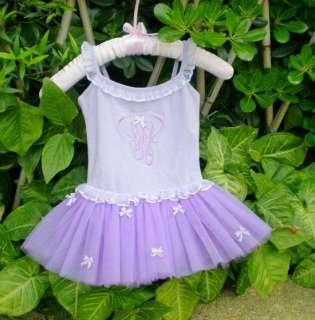 Girls Fairy Dance Leotard Ballet Tutu Skirt Dress 2 7Y