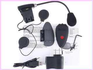 Two MOTORCYCLE HELMET BLUETOOTH HEADSET  INTERCOM  FM RADIO Interphone