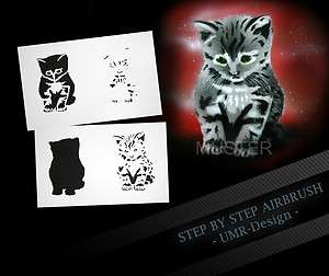 Airbrush Stencil Template 4 Steps AS 098 M Size 5,11 x 3,95