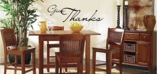 Give Thanks Vinyl Wall Art Words Decals Stickers Decor Decoration