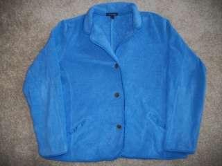 girls 14 16 LANDS END fleece jacket coat EUC outerwear