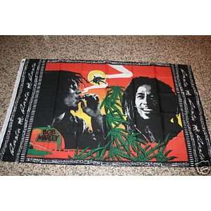 BOB MARLEY SMOKING POT FLAG: Everything Else