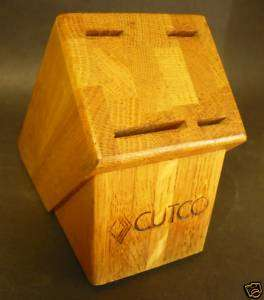 Vintage CUTCO KNIFE WOOD BLOCK HOLDER KNIVES FORK