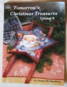 Christmas Winter Santa Angel Ornaments Wood Paint Book