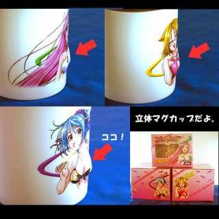 + Vampire SEXY girl 3D Mug x 3 Moka Kurumu NEW Japanese Anime