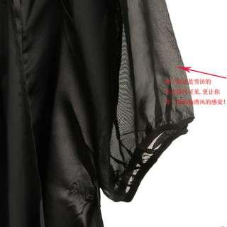 Fashion Women Lady Graceful Genle Womanly Chiffon Sleeve Show hin
