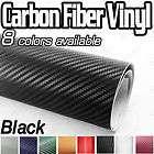 3D Carbon Fiber Vinyl Sheet Wrap Cloth 20cmx12cm Black Porsche VW Opel