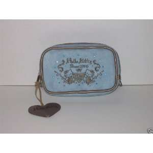 Hello Kitty Makeup Bag Case/Wallet Blue Suede Everything