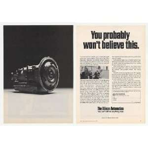 Diesel Allison Automatic Transmission 2 Page Print Ad