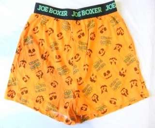 Mens Boxer Shorts Underwear Halloween Jack O Lantern Face Will Turn