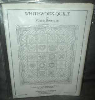 Whitework Quilt pattern block of month BOM redwork sampler Virginia