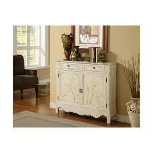 White Hand Painted 2 Door Console   Powell Furniture   246