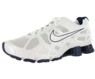 Nike Shox Turbo+ 12 Mens Running Shoes White/Grey/Blue Shoes