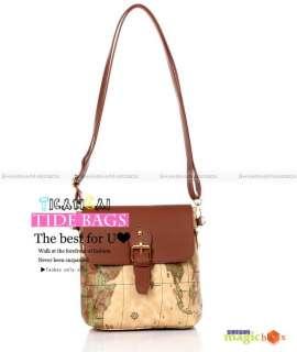 Women Fashion Map Small Crossbody Shoulder Bag New #459
