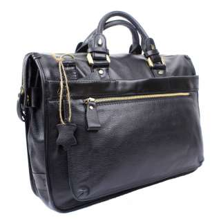 Mens Italy Top Leather Briefcase Messenger Laptop Bag B13