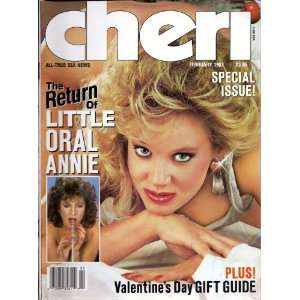 CHERI FEBRUARY 1987 LITTLE ORAL ANNIE CHERI MAGAZINE Books