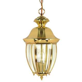 New Haven INDOOR OUTDOOR 16 Hanging Lantern Light Polished Brass Nuvo