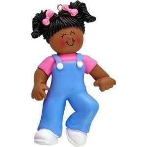 African American Female Babys First Steps Christmas