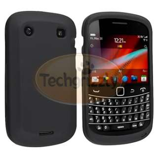 Case Cover+Privacy LCD Guard+Car Charger for Blackberry Bold 9900 9930