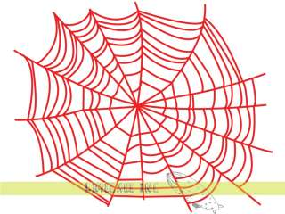 Creepy RED Spider Web Decal Sticker for Windows & Cars