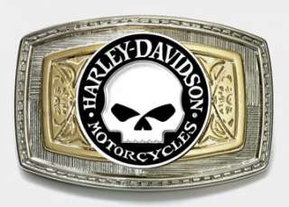 Harley Davidson Willie G. Skull Antique Nickel Medallion Trophy Belt