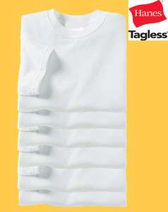 100 Blank Hanes TAGLESS T Shirt 5250 Plain White S XL Lot Wholesale