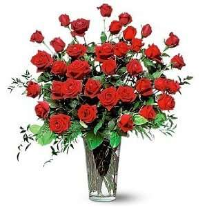 Three Dozen Red Rose Bouquet:  Grocery & Gourmet Food