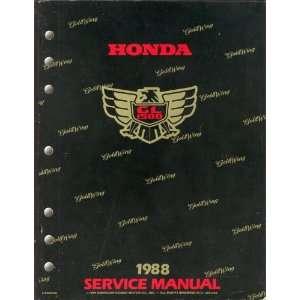 Honda Gold Wing GL1500 1988 Service Manual American Honda