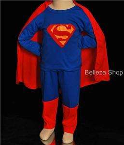 HALLOWEEN Party Superman Kid Cosplay Costume Size 5T 6T