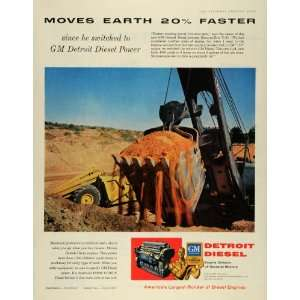 1956 Ad GM Detroit Diesel Power Bucyrus Erie 71 B Shovel