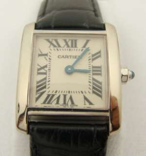 Ladies CARTIER Tank Francaise 18K White Gold Watch