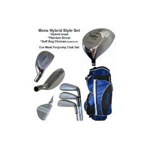 X 10 Complete Mens Hybrid Set with woods, irons and bag