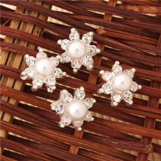 20PCS Rhinestone Seven pointed Star Pearl Hair Pins Wedding Hairpins