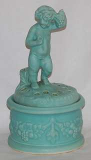 Weller Pottery Hobart Jardiniere and Flower Frog