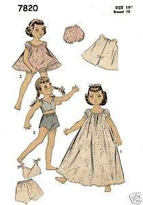 7820 Toni Betsy McCall Doll Wardrobe Pattern 19