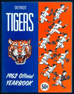 1962 Detroit Tigers Official Yearbook Nice