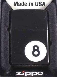 Eight Ball Zippo Lighter lucky black 8 death ball pool