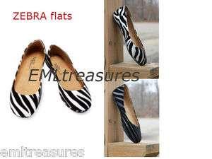 Women Size Pretty Black White Casual Dress Ballet Flat