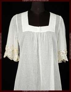 NEW WHISTLES LONDON Embellished Sheer Cotton Dress 8 M
