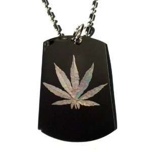 Novelty Weed POT Ganja Marijuana Leaf Logo   Military Dog